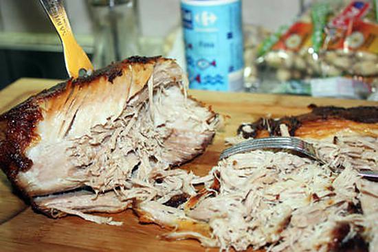 Recette d 39 effiloch e d 39 paule de porc r tie - Cuisiner epaule de porc ...