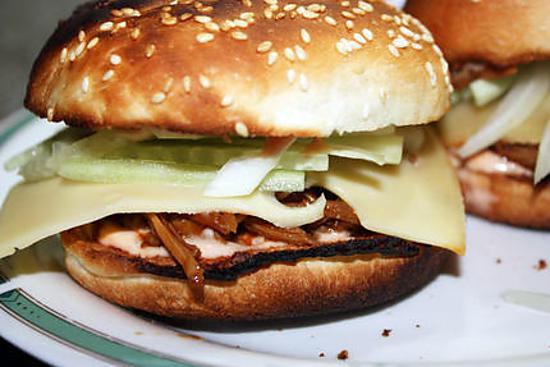 recette Sandwich à l'effilochée d'épaule de porc rôtie