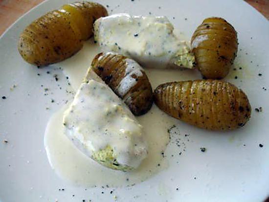 recette roulé de dinde au fromage et ses pomme de terre à la suedoise de soniflex