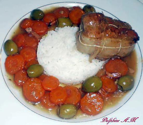 recette de paupiettes de veau aux carottes et aux olives. Black Bedroom Furniture Sets. Home Design Ideas