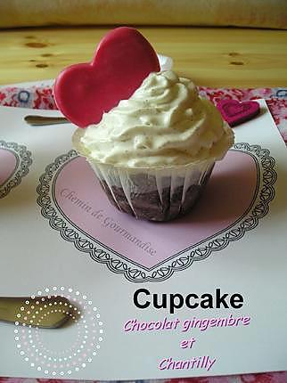 recette Cupcakes Chocolat Gingembre & Chantilly pour la Saint Valentin