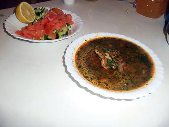 """recette chorba: soupe tunisienne avec des """"langues d'oiseaux"""""""