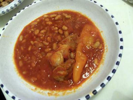 recette Plat tunisien aux haricots blancs: sauce loubia
