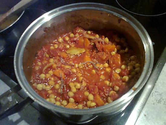 recette pois chiches à la catalane de hanor ,revisité