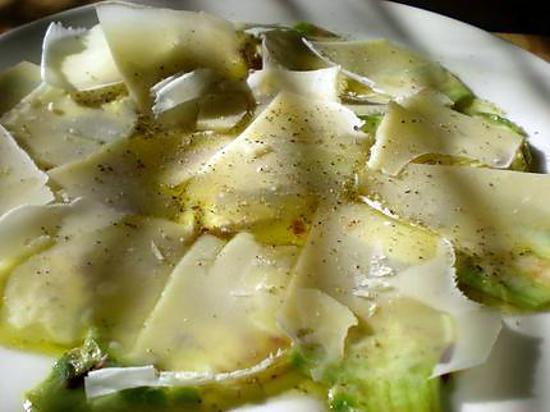 recette Salade d'artichauts crus
