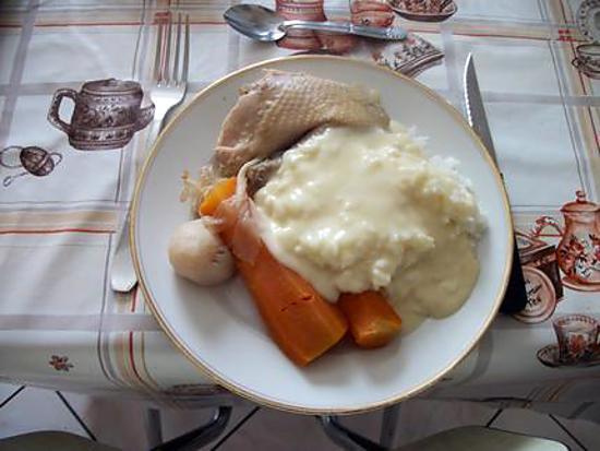 recette de poule au pot et sauce ivoire