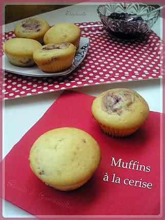 recette Muffins fourrés à la confiture de cerise