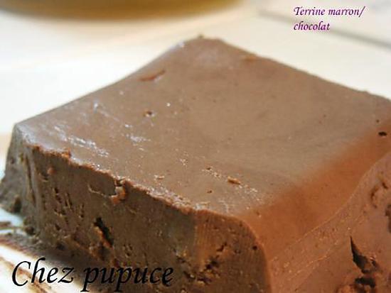 recette terrine marron /chocolat