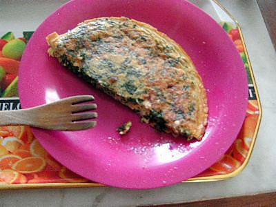 recette Omelette aux épinards vapeur