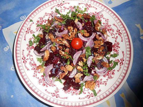recette Salade de betteraves aux noix