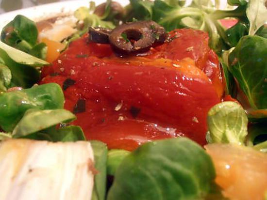 recette timbale de poivrons grillés surprise