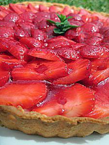 recette de tarte aux fraises ricotta mascarpone par d lices olives. Black Bedroom Furniture Sets. Home Design Ideas