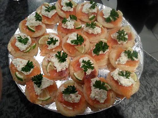 recette Blinis au saumon et ces paillettes de piments