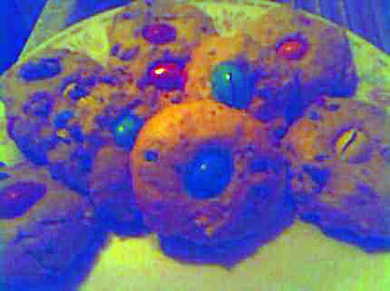 recette cookie's m&m's