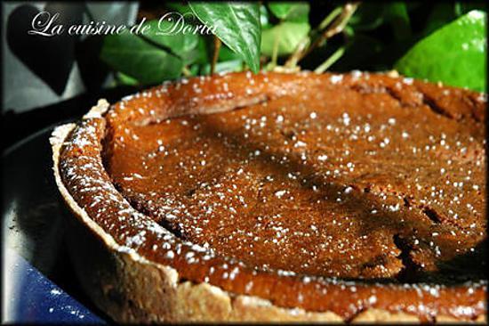 recette Tarte à la ricotta et crème au chocolat et poire