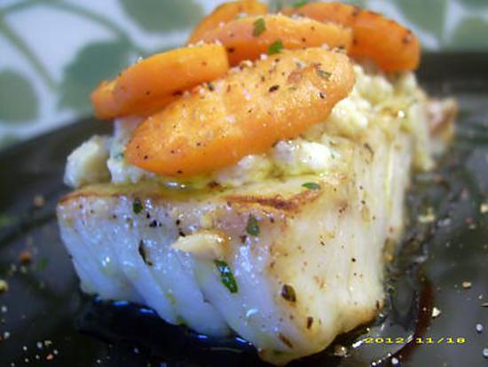 recette de pav de cabillaud la cr me petites carottes glac es au vin blanc. Black Bedroom Furniture Sets. Home Design Ideas