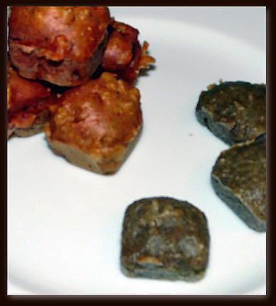recette Mini muffins salés curry / amande/ wasabi et wasabi