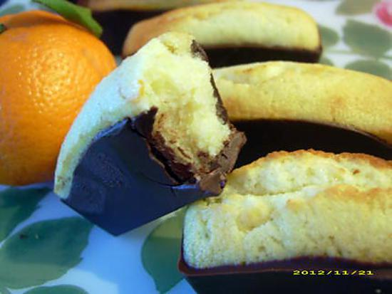 recette financiers aux zestes de clémentine et chocolat noir
