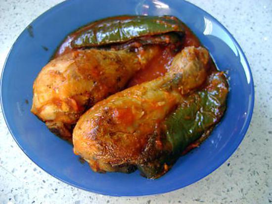 Recette de pilons de poulet tomates poivrons - Pilon de poulet a la poele ...