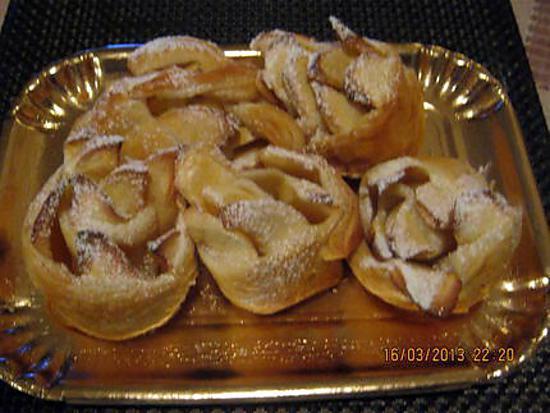Recette de roul aux pommes par cremina - Feuillete aux pommes caramelisees ...