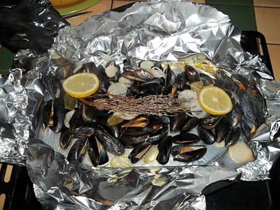 recette moule marinières  papillotte (recette du chef constant christian de top chef)