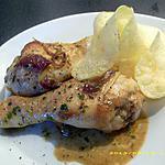 pilons de poulet aux oignons rouges et coriandre