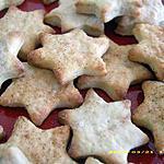 recette étoiles sablées à la cannelle