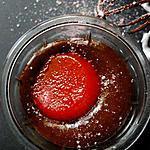 recette Verrine de chocolat à la gelée rouge