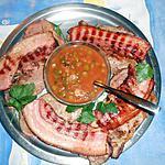 recette Cotes de porc grillées a la sauce charcutiére