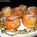 recette Gâteaux aux cranberries
