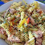 recette Torsettes cuisson rapide aux miettes de saumon et ses petits légumes