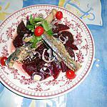 recette Salade de betterave au filets de maquereau