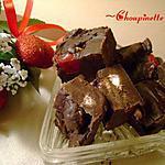 recette Fondant au chocolat ''rouge et blanc''