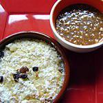 recette gateau de riz coco et caramel  salé ( pour finir de petits restes !!)