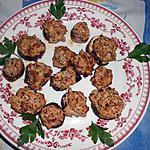 recette Champignons de Paris farcis au thon