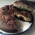 recette moelleux chocolat noir/blanc coco comme flunch
