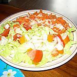 recette salade variée avec les carottes et laitue