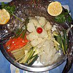Merlu roti et ses petits légumes