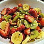 recette Salade de fraises parfumée au café