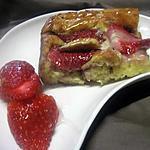 recette Clafoutis  et  fraises  au   mascarpone.
