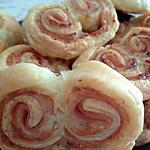 recette Palmier blanc de poulet/boursin aux noix