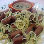 recette Spaghettis aux snacks.