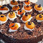 recette Forêt noire aux abricots
