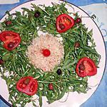 recette Salade de roquette aux crabes