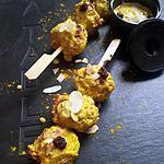 Brochettes de boulettes de boeuf sauce orientale
