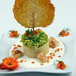 recette St Jacques sur purée à l'ail fondue de poireaux sauce maroilles sucette parmesan