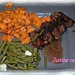 recette Magret de canard aux patates douces et sa sauce aux échalottes