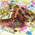 recette Chevreau à l'ail vert et aux aromates