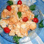 recette Choux fleurs a la mayonnaise pimentée