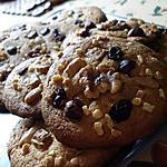 recette Cookies au chocolat blanc et fruits secs